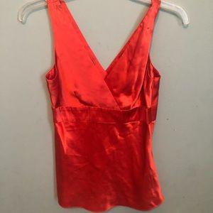 Inc Silk Orange Shirt